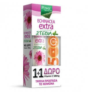 Power Promo Echinacea Extra 24 Αν.δισκία & ΔΩΡΟ Vit.C 500Mg 20 Αν.δισκία